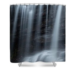 Misty Canyon Waterfall Shower Curtain by John Stephens
