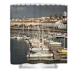 Ponta Delgada Shower Curtain by Gaspar Avila