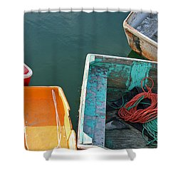4 Row Boats Shower Curtain