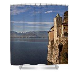 Santa Catarina Del Sasso Shower Curtain by Joana Kruse