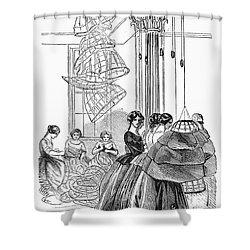 Skirt Factory, 1859 Shower Curtain by Granger