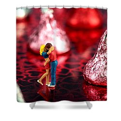 The Lovers In Valentine's Day Shower Curtain by Paul Ge