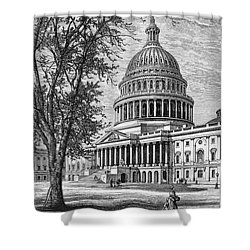 U.s. Capitol Shower Curtain by Granger