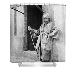 Silent Still: Single Man Shower Curtain by Granger