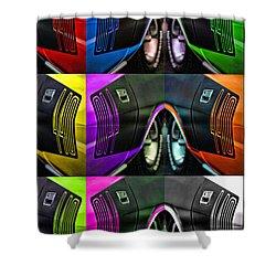 440 Cuda Billboard Pop Shower Curtain by Gordon Dean II