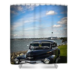 '47 Chevy By The Bay Shower Curtain