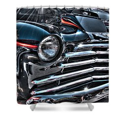 48 Chevy Convertible 2 Shower Curtain by Anthony Wilkening