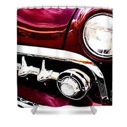 Shower Curtain featuring the digital art 49 Ford by Tony Cooper