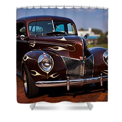 '49 Ford Two Door Sedan Shower Curtain by Christopher Holmes