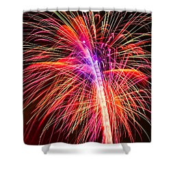 4th Of July - Independence Day Fireworks Shower Curtain by Gordon Dean II