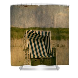 Beach Chair Shower Curtain by Joana Kruse