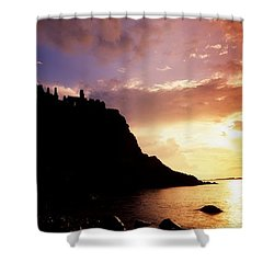 Dunluce Castle, Co Antrim, Ireland Shower Curtain by The Irish Image Collection