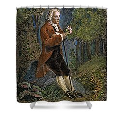 Jean-jacques Rousseau Shower Curtain by Granger
