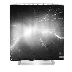 Lightning Shower Curtain by Science Source