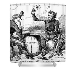 Lincoln Cartoon, 1862 Shower Curtain by Granger