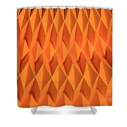 Mathematical Origami Shower Curtain by Ted Kinsman