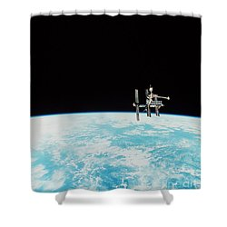 Mir Space Station Shower Curtain by Nasa