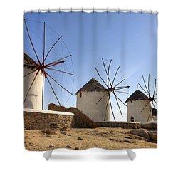 Mykonos Shower Curtain by Joana Kruse