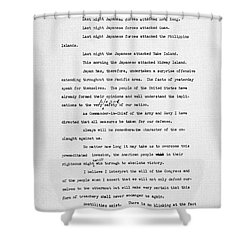 Roosevelt Speech, 1941 Shower Curtain by Granger