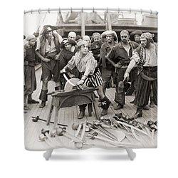 Silent Film Still: Pirates Shower Curtain by Granger