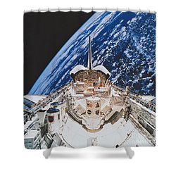 Space Shuttle Atlantis Shower Curtain by Science Source