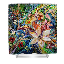 The Magic Garden Shower Curtain by Elena Kotliarker