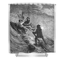 Verne: Journey Shower Curtain by Granger