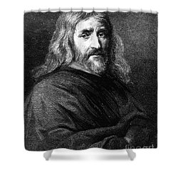 William Harvey, English Physician Shower Curtain by Science Source