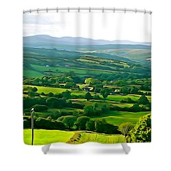 Shower Curtain featuring the photograph 50 Shades Of Green by Charlie and Norma Brock