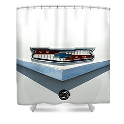 57 Chevy Emblem Shower Curtain by Mark Dodd