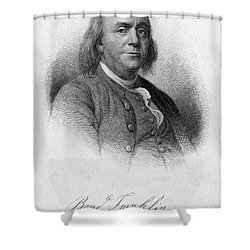 Benjamin Franklin, American Polymath Shower Curtain by Photo Researchers