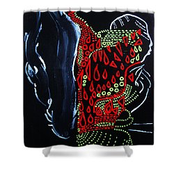 Dinka Groom - South Sudan Shower Curtain by Gloria Ssali