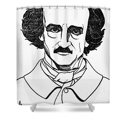 Edgar Allan Poe (1809-1849) Shower Curtain by Granger