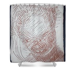 Jesus - Tile Shower Curtain by Gloria Ssali