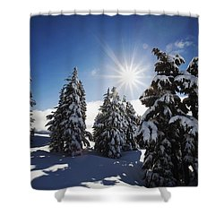 Oregon Cascades, Oregon, United States Shower Curtain by Craig Tuttle