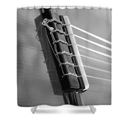 6 String Bw Shower Curtain