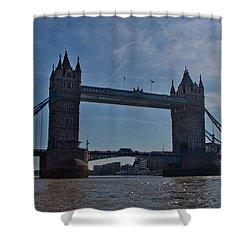 Tower Bridge Shower Curtain by Dawn OConnor