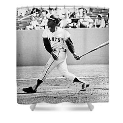 Willie Mays (1931- ) Shower Curtain by Granger