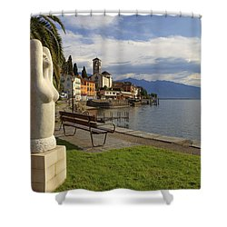 Brissago - Ticino Shower Curtain by Joana Kruse