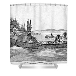 Canada Fur Trade Shower Curtain by Granger