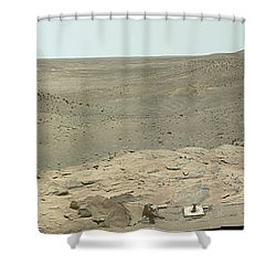 Panoramic View Of Mars Shower Curtain by Stocktrek Images