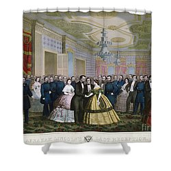 Abraham Lincoln (1809-1865) Shower Curtain by Granger