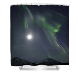 Aurora Borealis Or Northern Lights Shower Curtain by Robert Postma