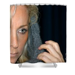 Blond Woman Shower Curtain by Henrik Lehnerer