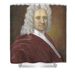 Edmond Halley, English Polymath Shower Curtain by Science Source