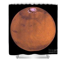 Mars Shower Curtain by Stocktrek Images