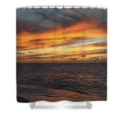 North Shore Sunset Shower Curtain by Vince Cavataio