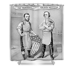 Presidential Campaign, 1872 Shower Curtain by Granger