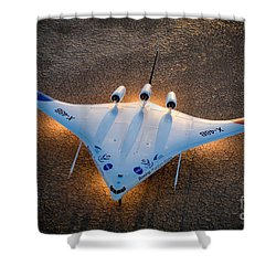 X48b Blended Wing Body Shower Curtain by Nasa