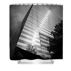 911 Memorial Museum Bw Shower Curtain by Teresa Mucha
